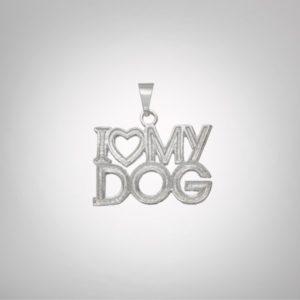 Pingente I Love My Dog