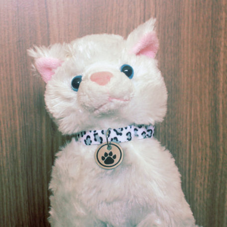 Coleira Comfy Cat Gatinho Branco Onça