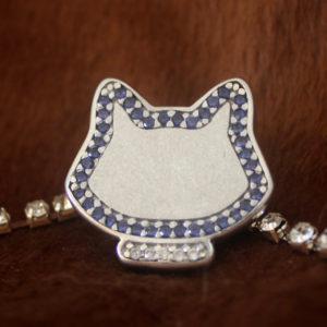 Gato com Zircônias – Azul
