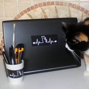 Adesivos Cat Love
