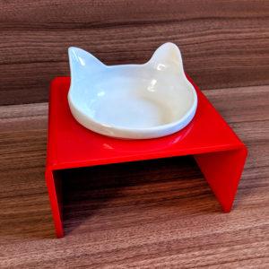 Comedouro Orelhinhas Elevado – Vermelho