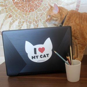 Adesivo I Love My Cat